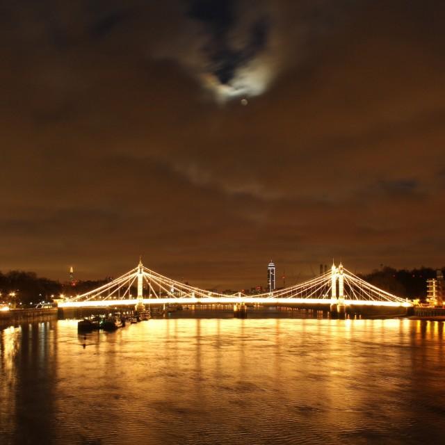 """Moon Bridge"" stock image"