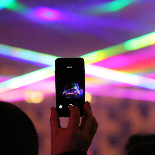 """Party Through An iPhone"" stock image"