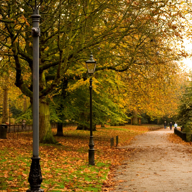 """Battersea Park Autumn Scene"" stock image"