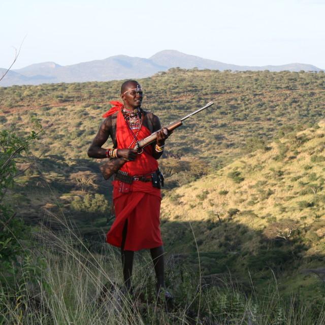 """Masai in northern Kenya"" stock image"