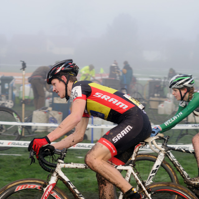 """Cyclo-Cross Derby 2015 ."" stock image"