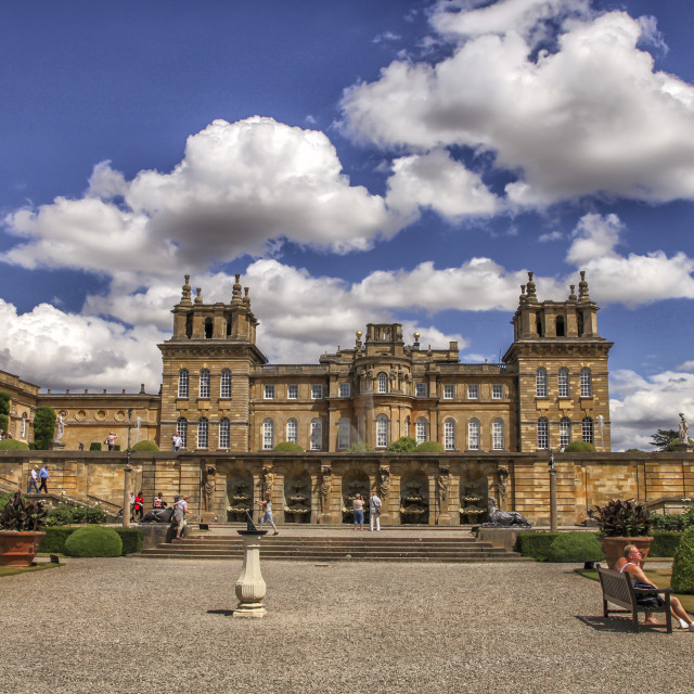 """Blenheim Palace in the UK"" stock image"
