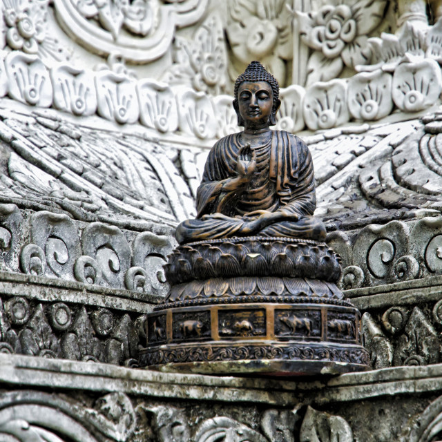 """BUDDHA SCULPTURE"" stock image"
