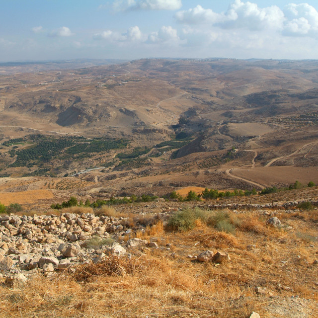 """""""View from Nebo mountain to the Land of Promised"""" stock image"""