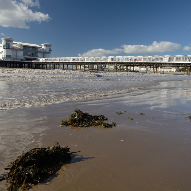 """Weston Super Mare Pier"" stock image"