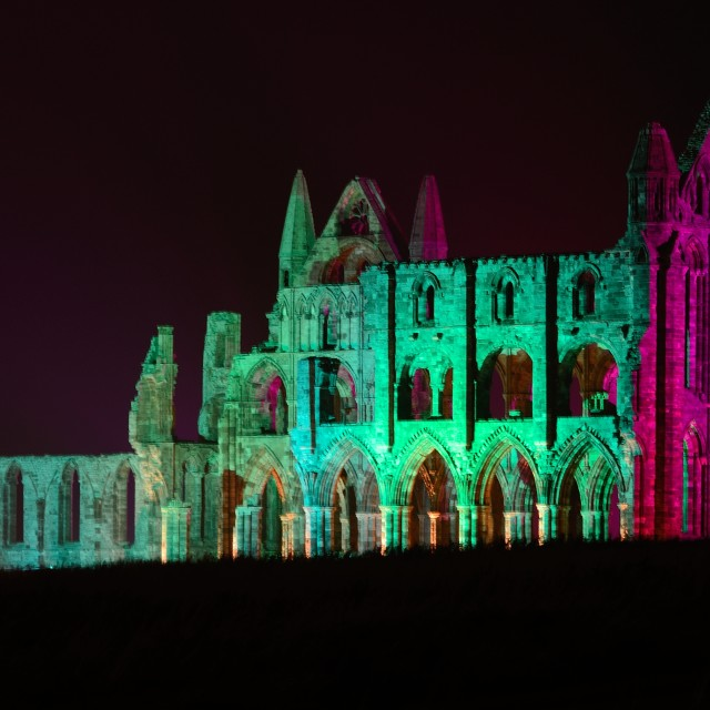 """Whitby Abbey At Night #2"" stock image"