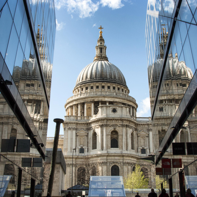 """""""St.Pauls Cathedral Reflection"""" stock image"""