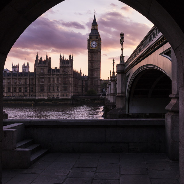 """Arch arond Westminster"" stock image"