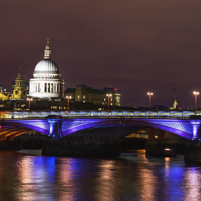 """Illuminated London"" stock image"