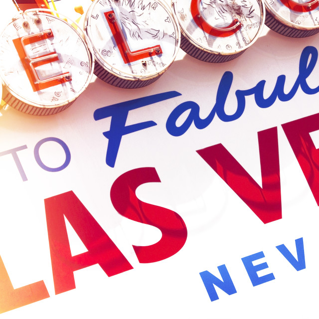 """""""Welcome to Vegas"""" stock image"""