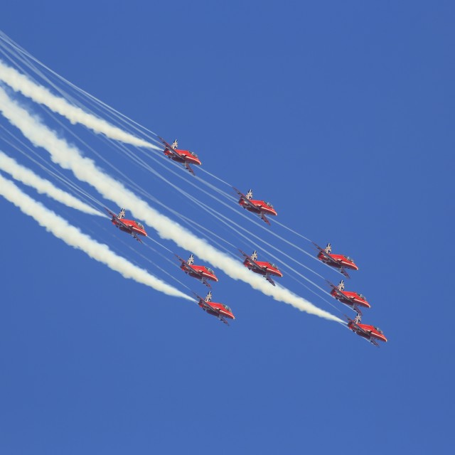 """The Red Arrows 1"" stock image"