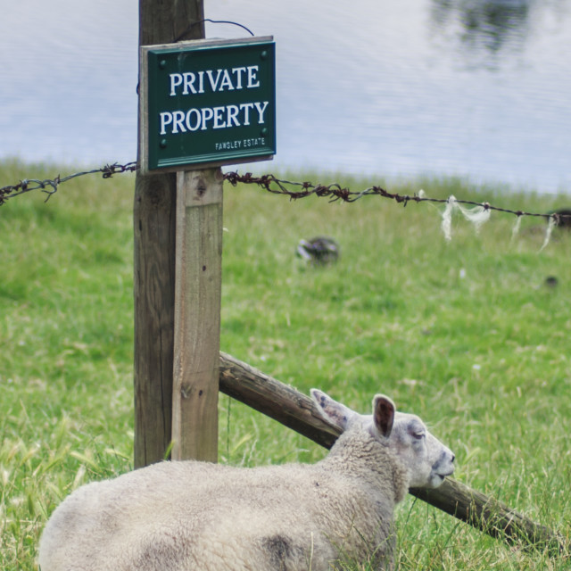 """""""Private Property"""" stock image"""