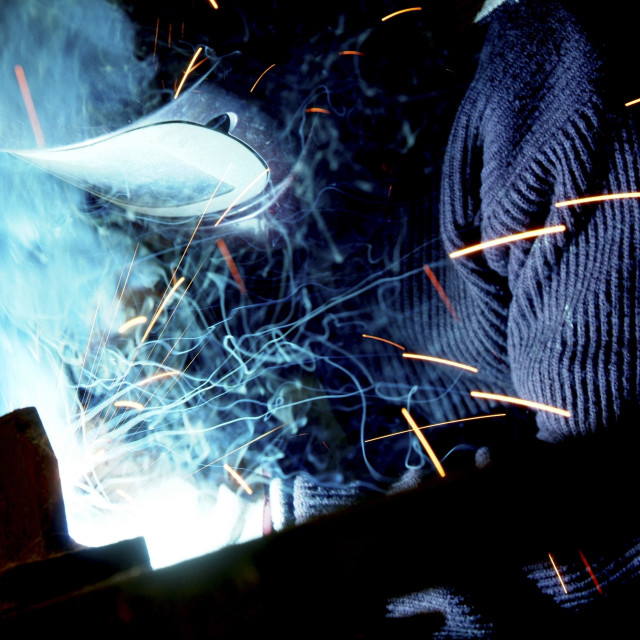 """Industrial steel welding"" stock image"