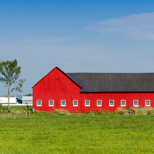 """Red barn"" stock image"