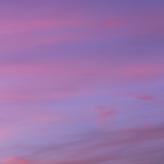 """""""Sky with clouds in blue and pink sunset evening colors"""" stock image"""