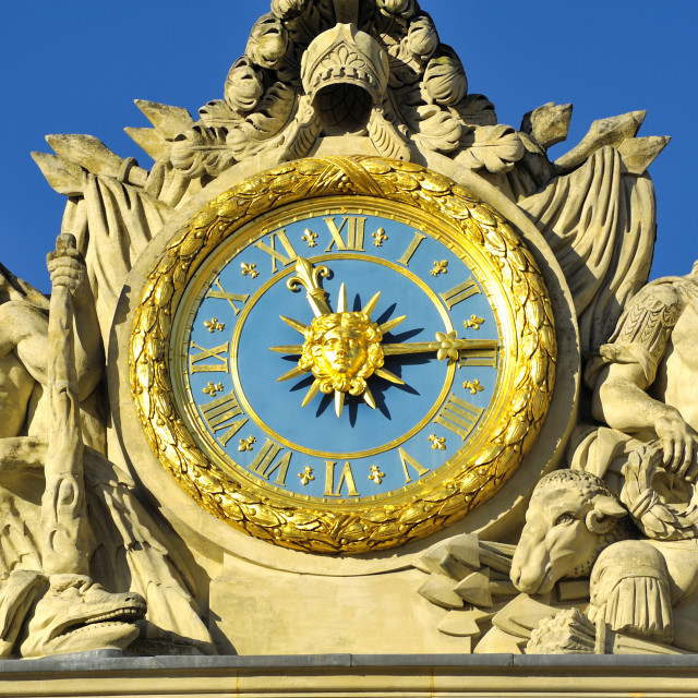 """""""Clock of the castle of Versailles"""" stock image"""