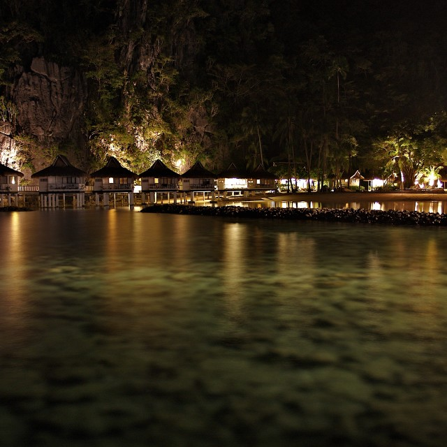 """Lagoon at Night"" stock image"