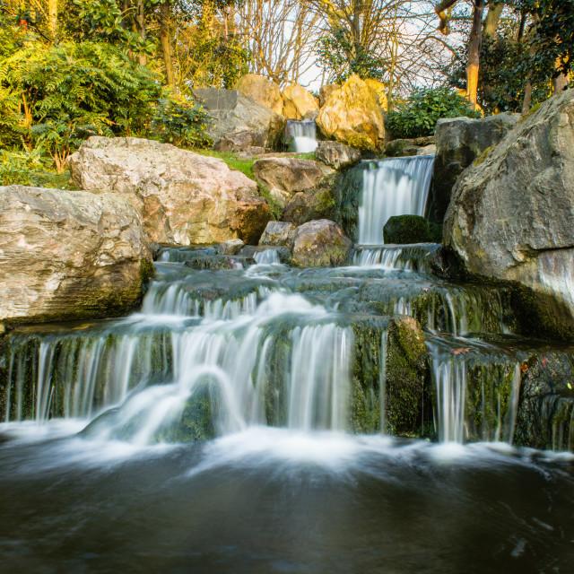 """Kyoto Garden Waterfal"" stock image"