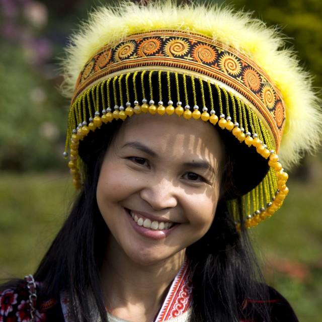 """""""Touriste Thaïlandaise déguisée"""" stock image"""