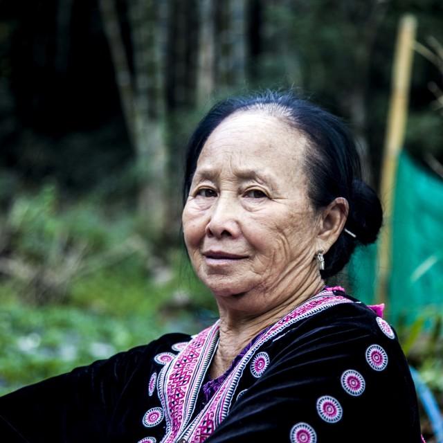 """Grand mère Mong"" stock image"