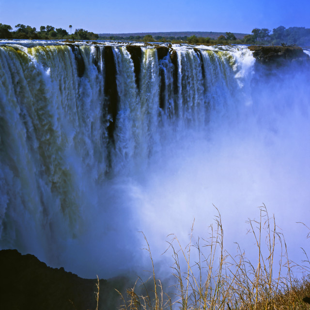 """The Victoria Falls"" stock image"