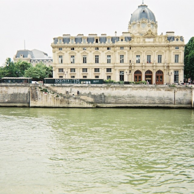 """""""The Seine, Paris"""" stock image"""