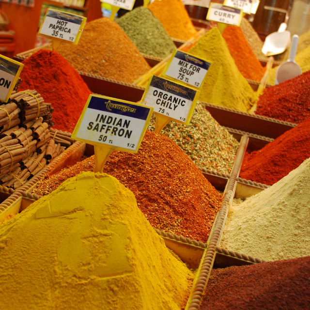 """""""Colourful spices"""" stock image"""