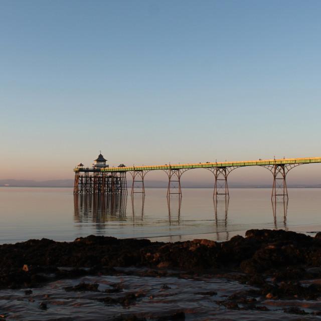 """Clevedon Pier"" stock image"