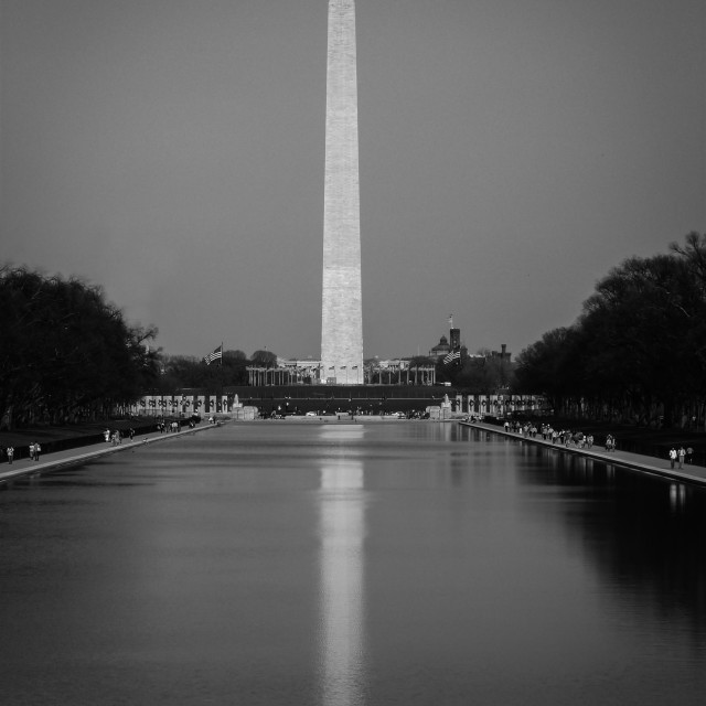 """Reflecting in DC"" stock image"