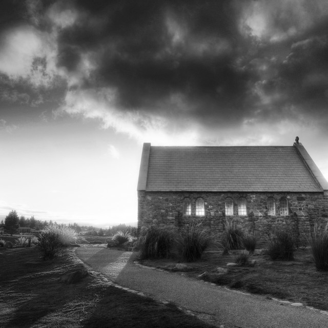 """Little Church of the Good Shepherd."" stock image"