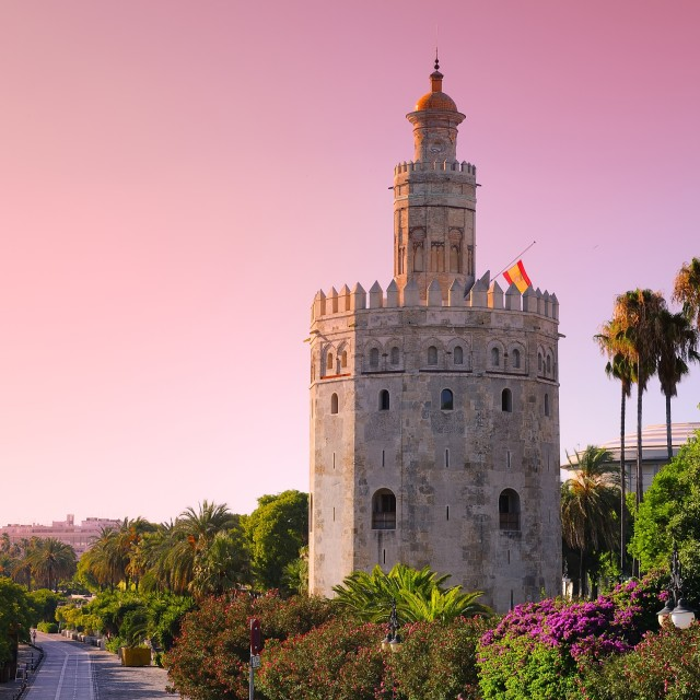 """Gold Tower, Seville."" stock image"
