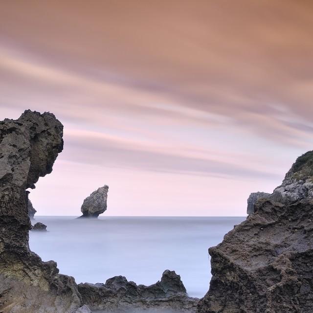 """Buelna beach in Spain."" stock image"