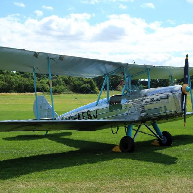 """""""Blackburn B2 G-AEBJ"""" stock image"""