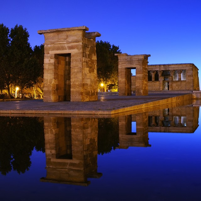 """Temple of Debod in Madrid."" stock image"
