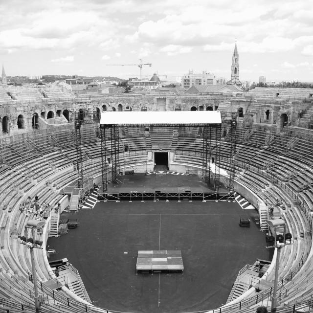 """""""Nimes amphitheatre"""" stock image"""
