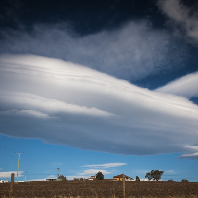 """Massive lenticular cloud"" stock image"