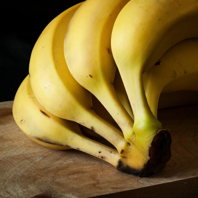 """Bunch of bananas"" stock image"