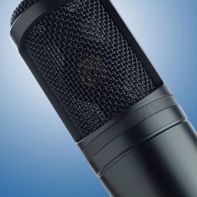 """black condenser microphone"" stock image"