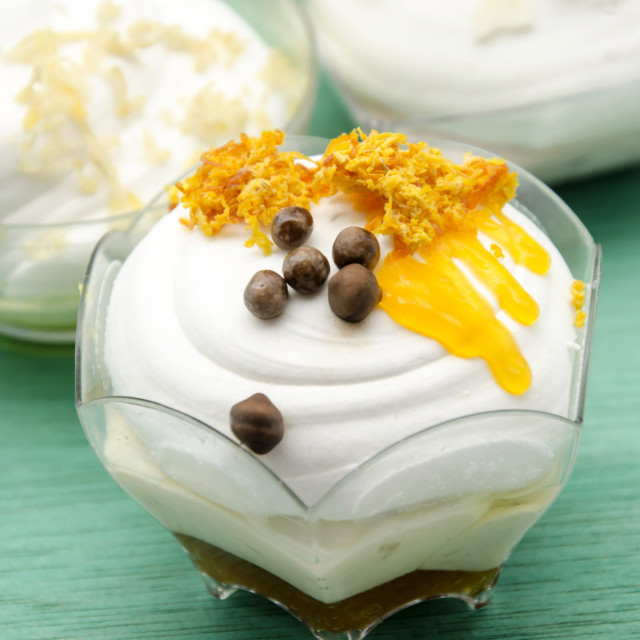 """""""Mousse cold whipping cream"""" stock image"""