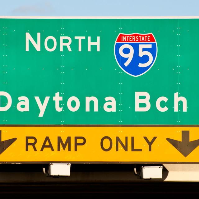 """Daytona Beach Sign"" stock image"