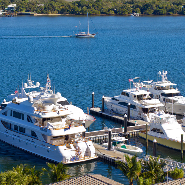 """Yachts at West Palm Beach, Florida"" stock image"