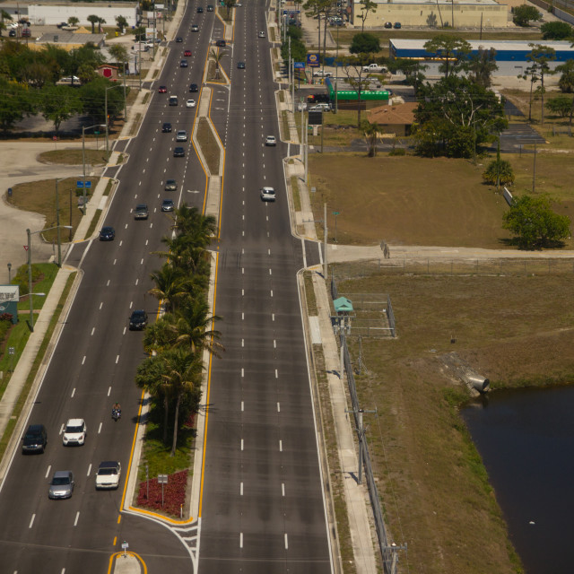 """""""Six Lane Highway"""" stock image"""