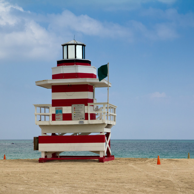 """Lifeguard station"" stock image"