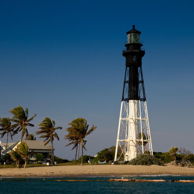 """Hillsboro Inlet lighthouse"" stock image"