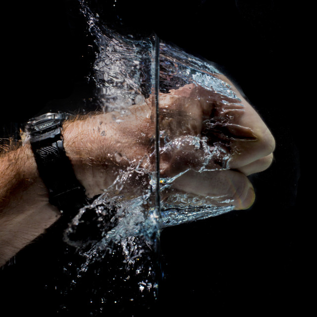 """Fist splash"" stock image"