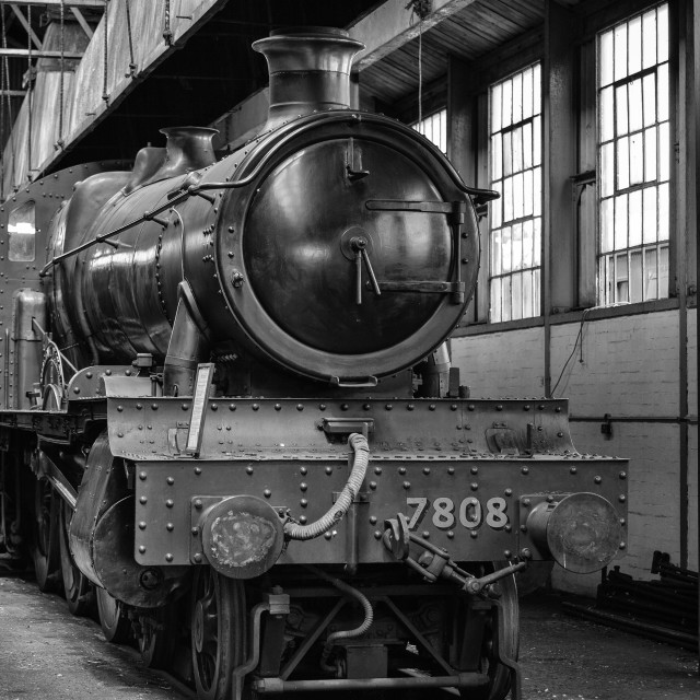 """GWR Manor Class No. 7808 Cookham Manor"" stock image"