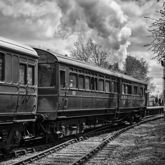 """GWR Steam Railmotor No.93"" stock image"