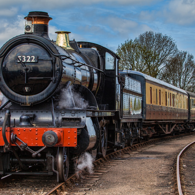 """GWR 2-6-0 Class 43XX No, 5322"" stock image"