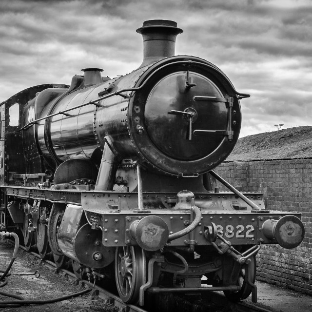 """GWR 2-8-0 Class 2884 No.3822"" stock image"