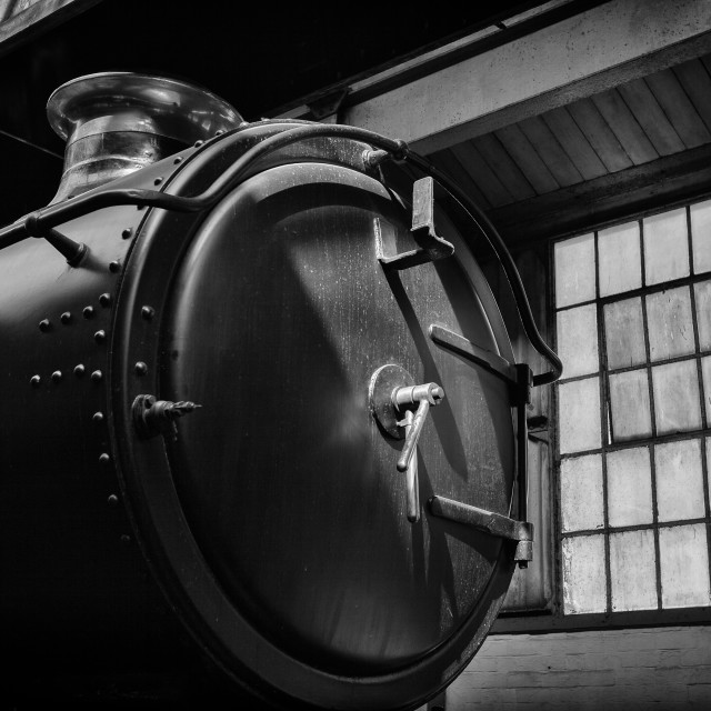 """GWR Engine on shed"" stock image"